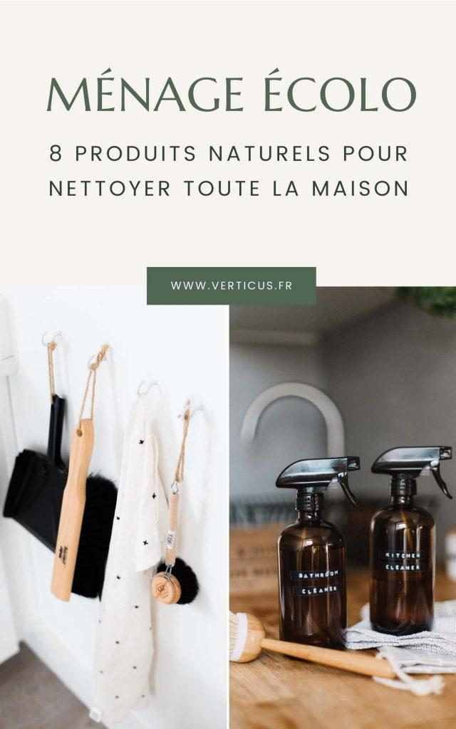 Ménage écologique produits d'entretien naturels pour nettoyer la maison