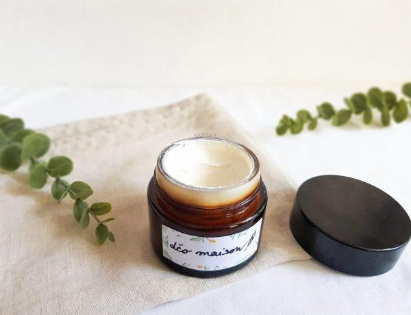 Recette de déodorant maison sans bicarbonate de soude pour peaux sensibles à la texture crémeuse à appliquer au doigt