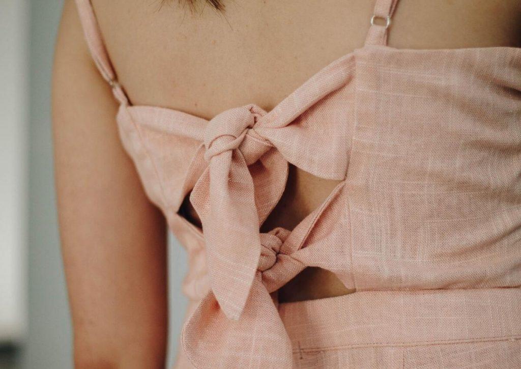 Robe en lin, matière naturelle fabriquée en France