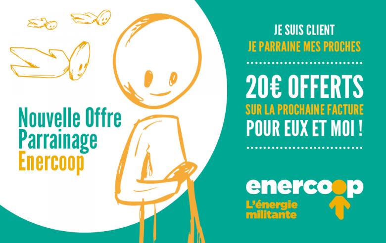 Code parrainage Enercoop : 20€ de réduction pour vous et moi !