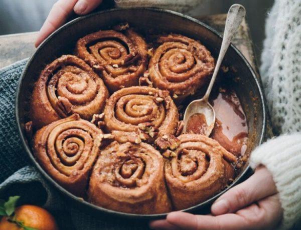 Brioches roulées à la cannelle – Cinnamon rolls