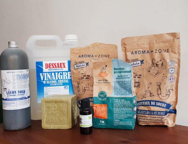 8 produits d'entretien naturels pour passer au ménage écologique et faire ses produits ménagers maison