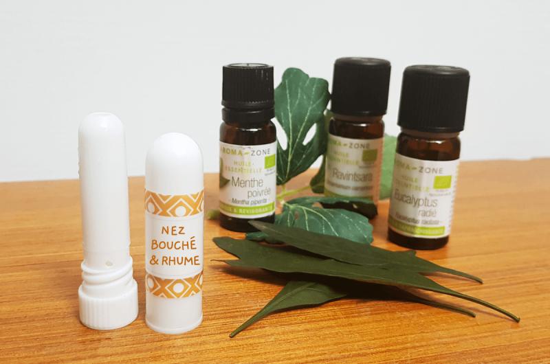 Stick inhalateur maison aux huiles essentielles contre le nez bouché