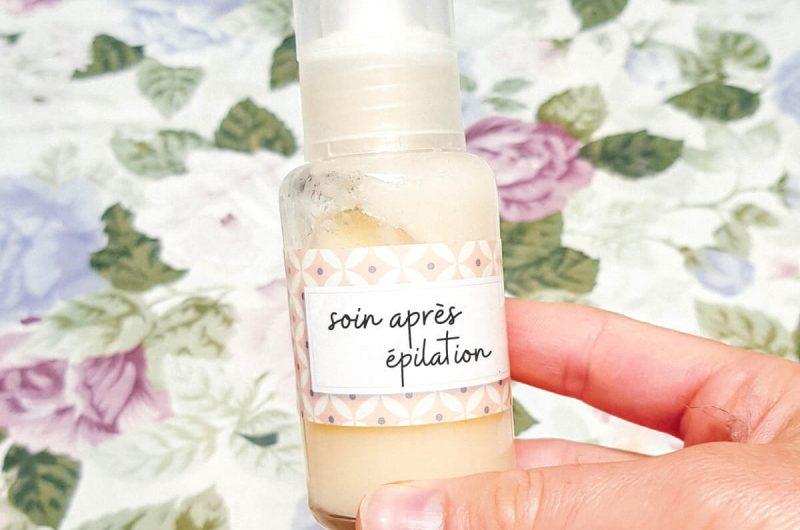 Soin après-épilation naturel et maison pour apaiser la peau