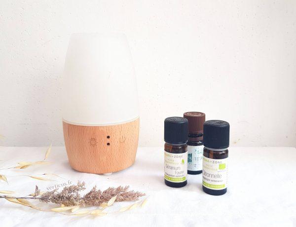 Mélange d'huiles essentielles anti-moustiques à diffuser