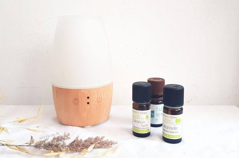 Ma synergie d'huiles essentielles anti-moustiques à diffuser